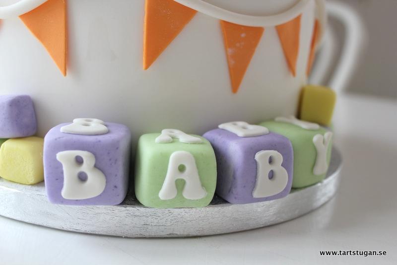 Babyshowertårta